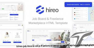 Hireo - Job Board & Freelance Services Marketplace HTML Template By vasterad