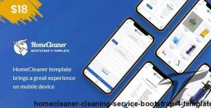 HomeCleaner - Cleaning Service Bootstrap 4 Template By lionsbite
