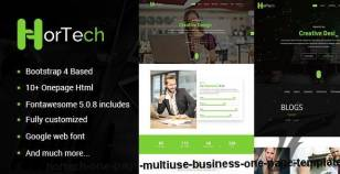 Hortech – One Page  Multiuse Business One Page Template By themeht
