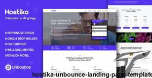 Hostika — Unbounce Landing Page Template By divine-store