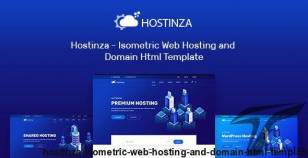 Hostinza - Isometric Web Hosting and Domain Html Template By xpeedstudio