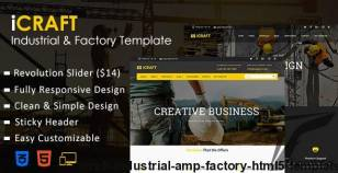 iCRAFT - Industrial & Factory HTML5 Template By serverdl