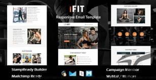 iFIT - Responsive Email Template With Online Stampready Builder Access By themetemplatedesign