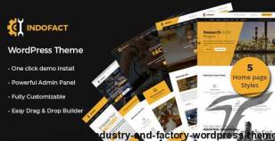Indofact - Industry and factory WordPress Theme By themechampion