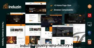induzin - Industry & Factory HTML Template By tonatheme