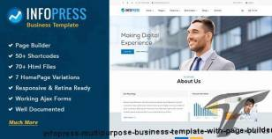 Infopress - Multi-Purpose Business Template with Page Builder By 2035themes