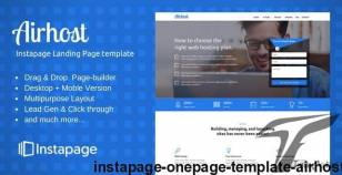 Instapage Onepage Template - Airhost By ilmosys