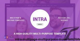 Intra - Multi-Page Multi-Purpose Muse Template By gsrthemes9