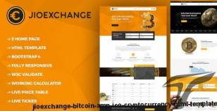 Jioexchange - Bitcoin & ICO Cryptocurrency HTML Template By psd2allconversion