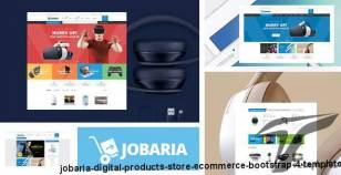 Jobaria - Digital Products Store eCommerce Bootstrap 4 Template By hastech