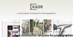 KadR - Minimalistic Template for Photographers By swebdeveloper