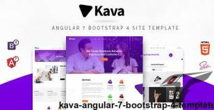 Kava : Angular 7 Bootstrap 4 Template By ironnetwork