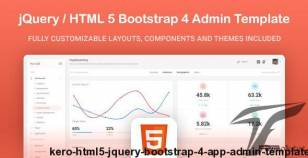 Kero - HTML5 jQuery Bootstrap 4 App Admin Template By the-architect