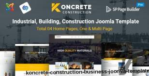Koncrete - Construction Business Joomla Template By radiustheme