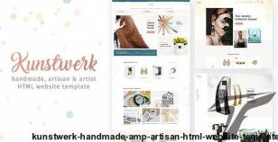 Kunstwerk - Handmade & Artisan HTML Website Template By monkeysan