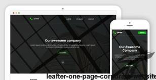 Leafter - One Page Corporate Website By karnovski