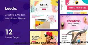 Leedo – Modern, Colorful & Creative Portfolio WordPress Theme By vlthemes