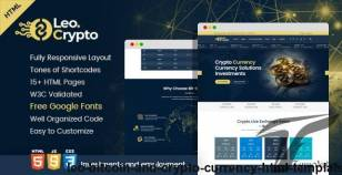 LEO - Bitcoin And Crypto Currency HTML Template