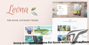 Leona - WordPress Theme for Book Writers and Authors By subsolar