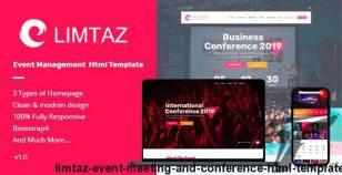 Limtaz - Event, Meeting and Conference HTML Template By pixelthemez