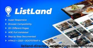 ListLand | Directory & Listings HTML Template By g-projects
