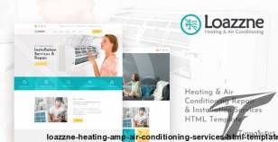 Loazzne - Heating & Air Conditioning Services HTML Template By layerdrops