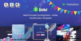 Lone - Multi Concept Coming Soon - Under Construction Template By wpcup