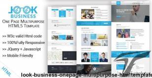 Look Business One-Page Multipurpose HTMLTemplate