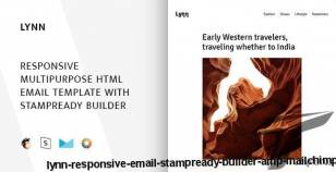 Lynn – Responsive Email + StampReady Builder & Mailchimp By sobasign