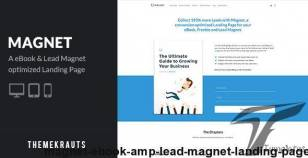 Magnet | eBook & Lead Magnet Landing Page By themekrauts