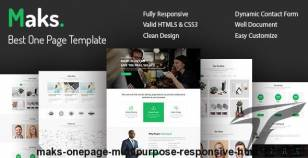 Maks - Onepage Multipurpose Responsive HTML5 Template By team90degree
