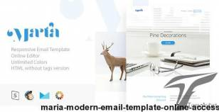 Maria - Modern Email Template + Online Access By masline