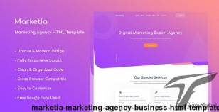 Marketia - Marketing Agency Business HTML Template By thesoftking