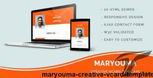 Maryouma - Creative vCard Template By celtano