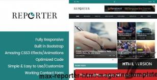 Max Reporter - HTML Magazine Template By premiumlayers