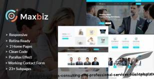 Maxbiz - Business Consulting and Professional Services HTML Template