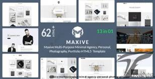 Maxive Multi-Purpose Minimal Agency, Personal, Photography Portfolio HTML5 Template