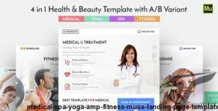 Medical, Spa, Yoga & Fitness Muse Landing Page Template By conquerorsmarket
