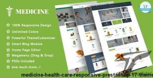 Medicine - Health Care Responsive Prestashop 1.7 Theme By themeftc