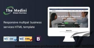 Medini - Business Professional Services HTML Template By designrainbow