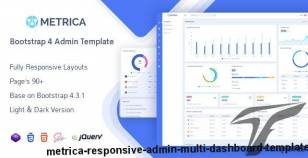 Metrica - Responsive Admin Multi Dashboard Template By mannat-themes