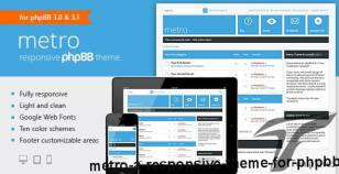 Metro — A Responsive Theme for phpBB3 By pixelgoose