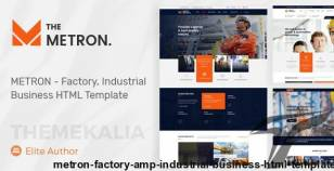 METRON - Factory & Industrial Business HTML Template