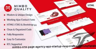 Mimbo - One Page Agency, App, Startup Responsive HTML Template By oscarthemes