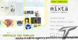 Mixta — Creative Agency, Portfolio Muse Template By torbara