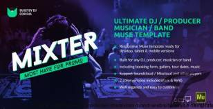 Mixter - Ultimate DJ / Producer / Musician / Band Website Muse Template By vinyljunkie