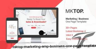MKTOP — Marketing & Business One Page Template By fourtabsthemes