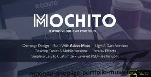 Mochito - One-Page Portfolio Muse Template By wiselythemes