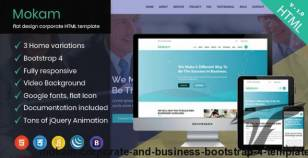 Mokam -Corporate and Business Bootstrap 4 Template By wpthemehut