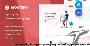 Montero - Digital Agency Unbounce Landing Page Template By prextheme